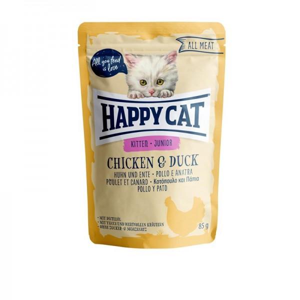 HappyCat All Meat Junior Huhn & Ente 24x85g