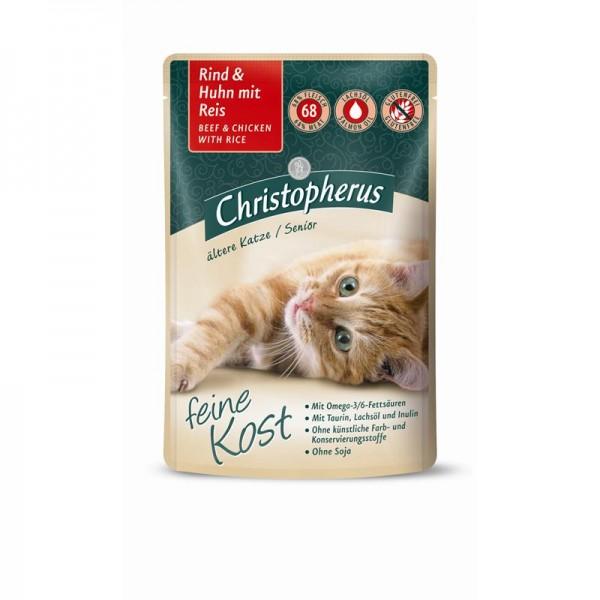 Christopherus Pouch Senior Rind+Huhn und Reis 85g