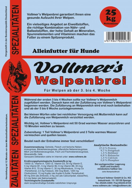 Vollmers Welpenbrei