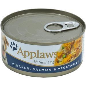 Applaws Dose Huhn & Lachs & Gemüse 12x156g