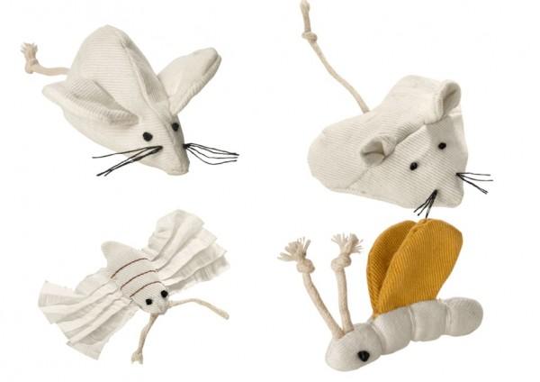 Hunter Katzenspielzeug Canvas Maus