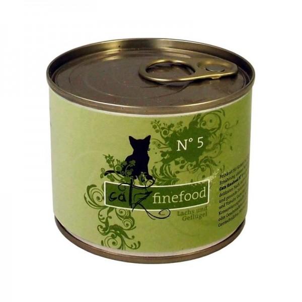 CatzFineFood No.5 Lachs & Geflügel