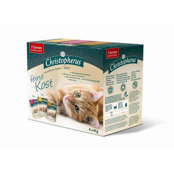 Christopherus Cat Pouch Multipack 8x85g
