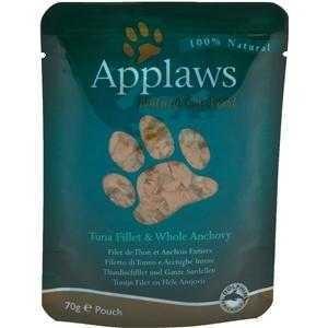 Applaws Cat Pouchbeutel Thunfischfilet & ganze Sardelle 12x70g