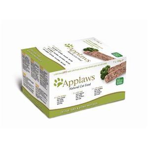 Applaws Cat Schale Multipack Paté Huhn, Lamm & Lachs 7x100g