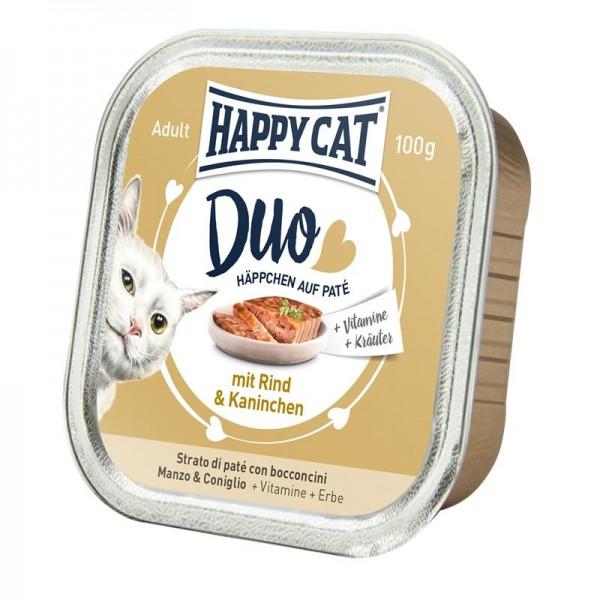 HappyCat Duo Paté Rind & Kaninchen 12x100g