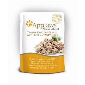 Applaws Cat Pouchbeutel Huhn & Rind in Gelee 16x70g