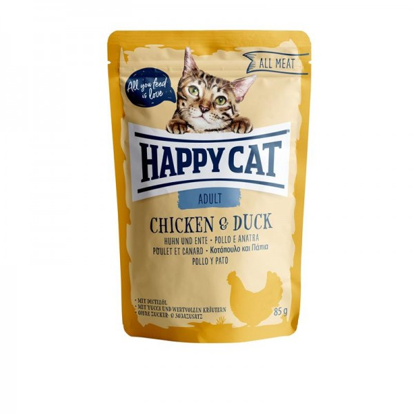 HappyCat All Meat Adult Huhn & Ente 24x85g