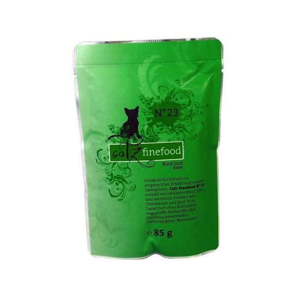 CatzFineFood Pouch No.23 Rind & Ente 85g