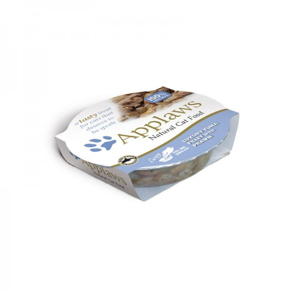 Applaws Cat Schale Luxuriöses Thunfischfilet & Garnele 10x60g