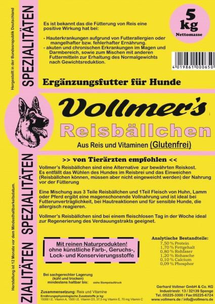 Vollmers Reisbällchen