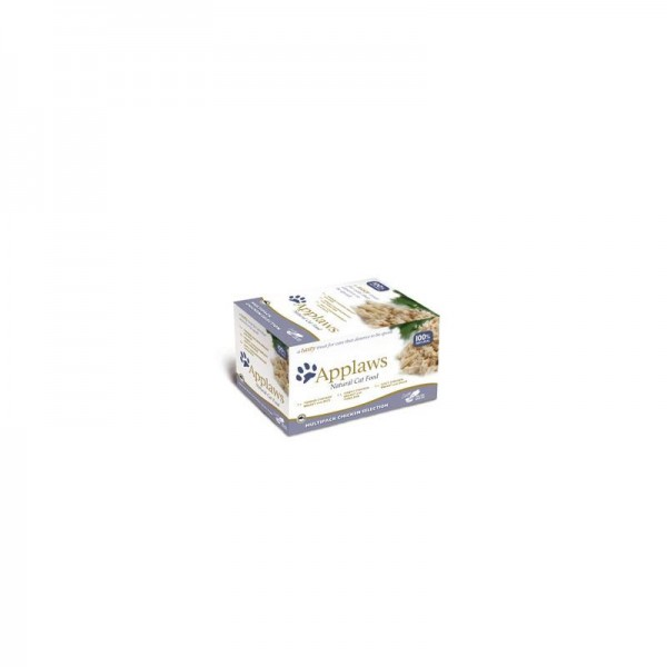 Applaws Cat Schale Multipack Huhn Selection 8x60g