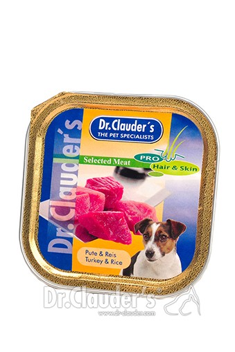 Dr. Clauders Selected Meat Pute & Reis 100g